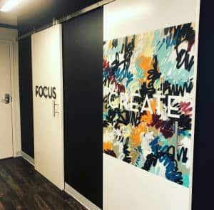 charlotte coworking space telephone booths